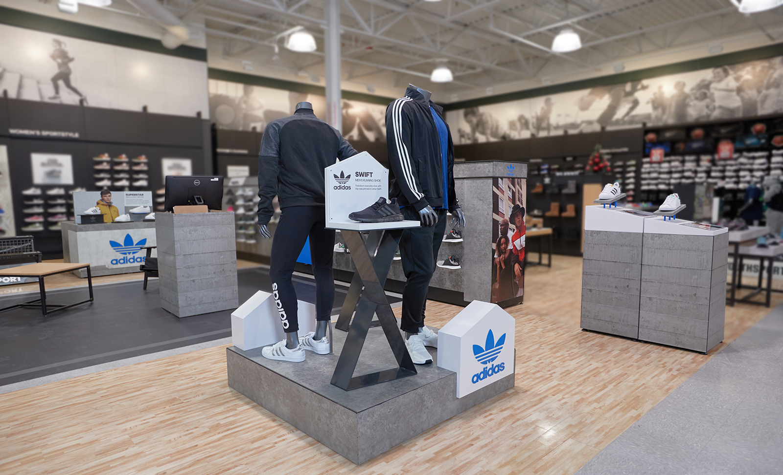 One of the many custom displays The Bernard Group designed, prototyped, and engineered for Adidas.
