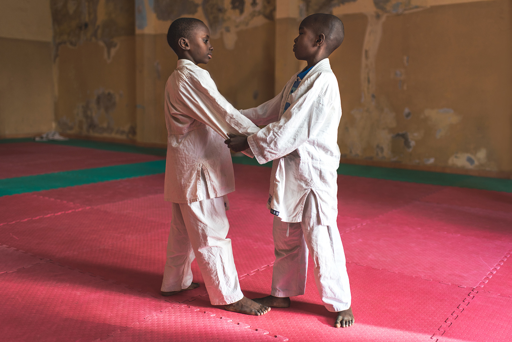 Two judoka