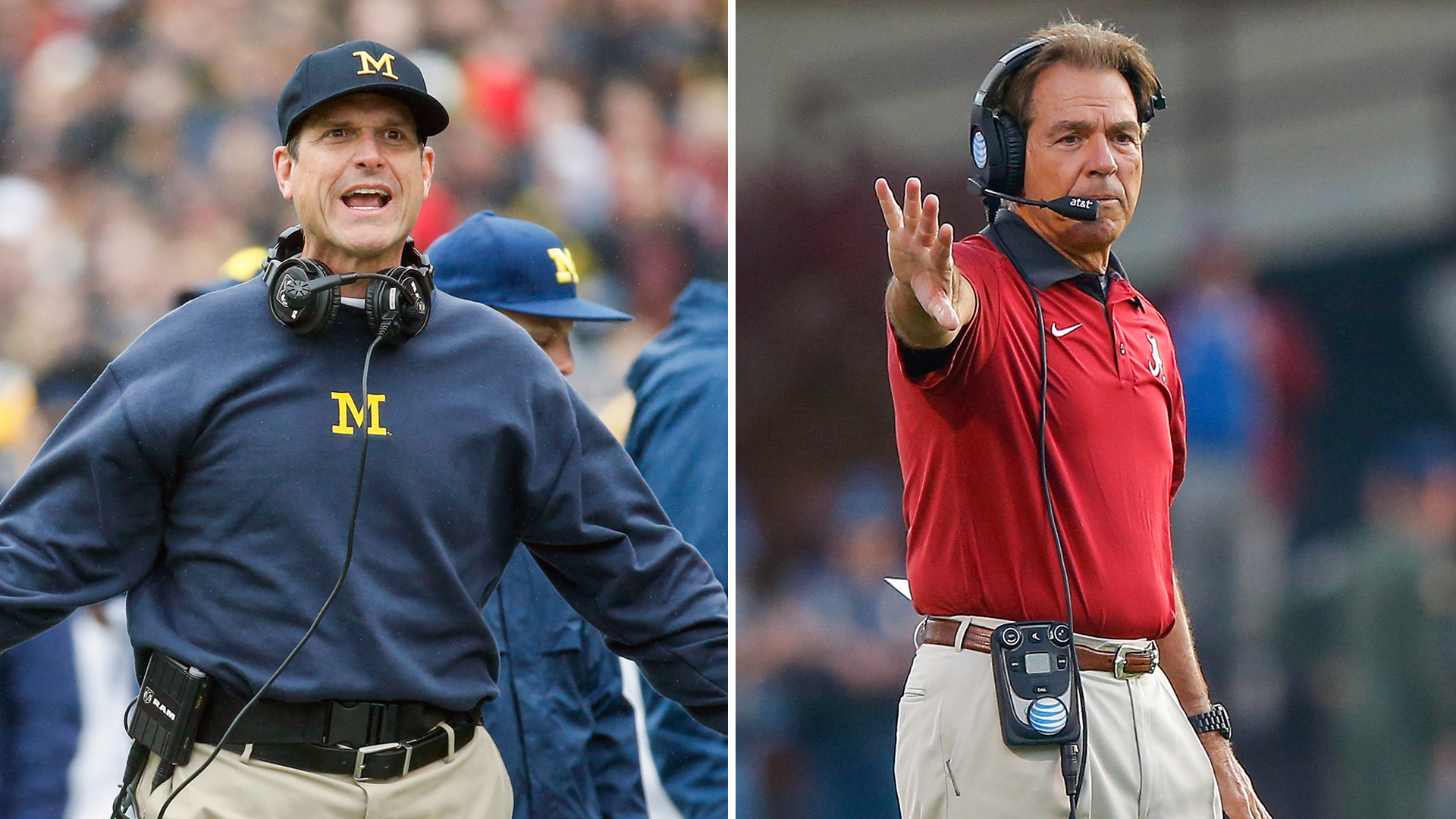 Jim Harbaugh Nick Saban