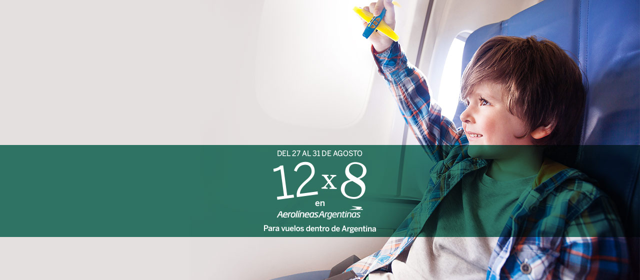 12x8 en vuelos dentro de Argentina