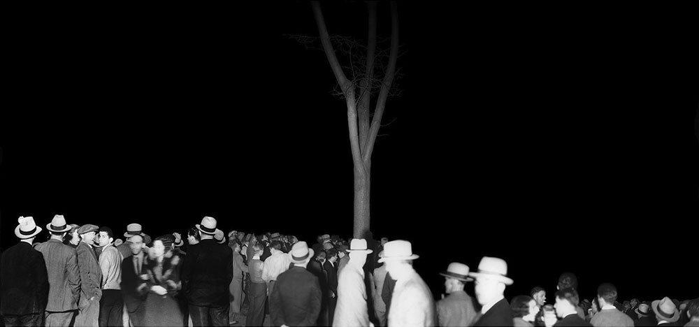 "Ken Gonzalez-Day, ""The Wonder Gaze"" (St. James Park, CA. 1935), 2006-2017, Erased Lynching Series (print and installation)"