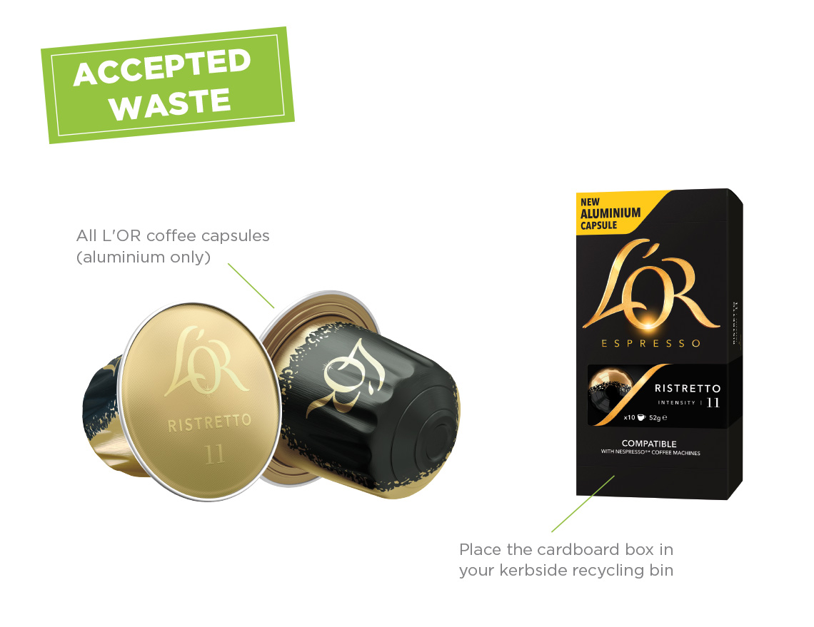 l 39 or coffee capsules recycling program terracycle. Black Bedroom Furniture Sets. Home Design Ideas