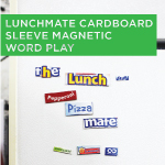 Lunchmate Cardboard Sleeve Magnetic Word Play