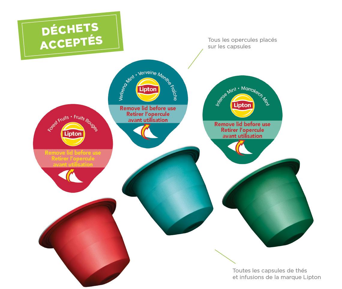 programme de recyclage des capsules lipton terracycle. Black Bedroom Furniture Sets. Home Design Ideas