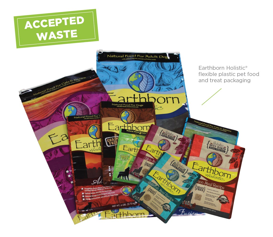 Earhborn Holistic Recycling Program Accepted Waste