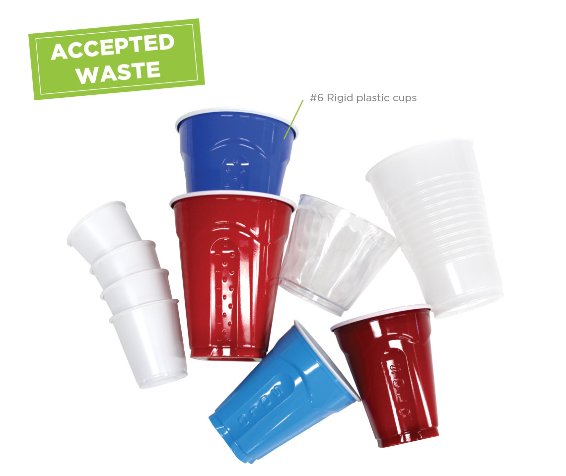 Solo Cup Recycling Program accepted waste: