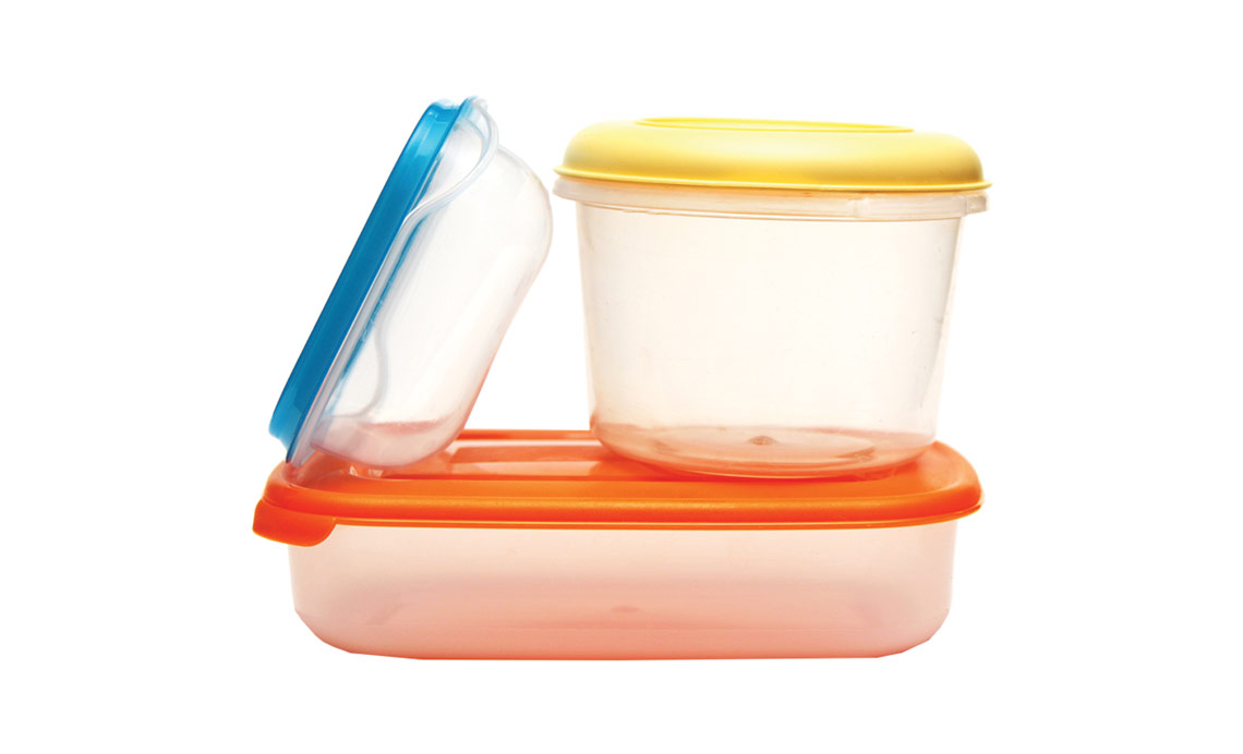 Storage Containers Including Empty, Non Recyclable Tupperware Including  Disposable Takeout Containers Or Plastic Storage Totes.