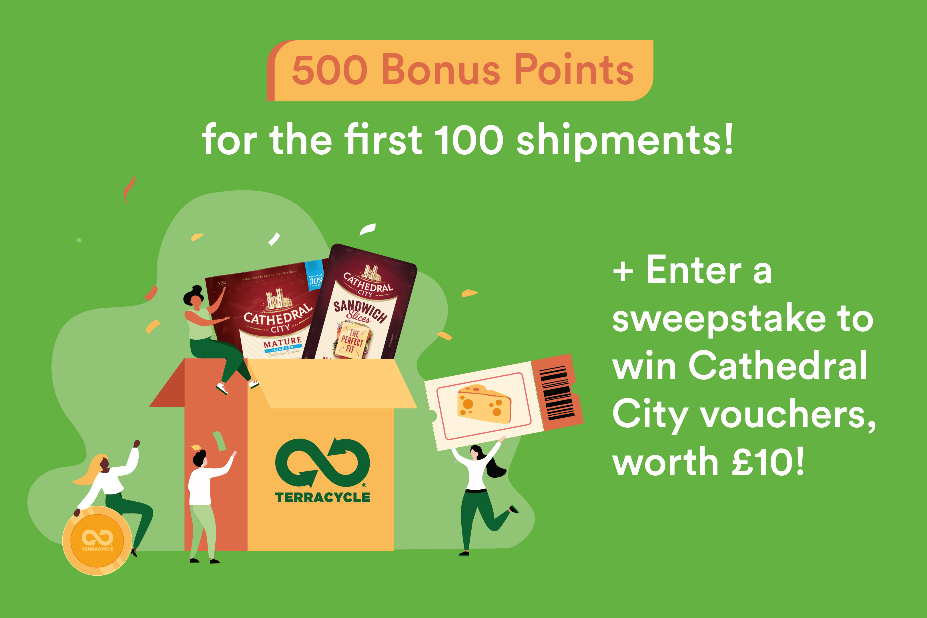 1 TerraCycle® point is worth £0.01.