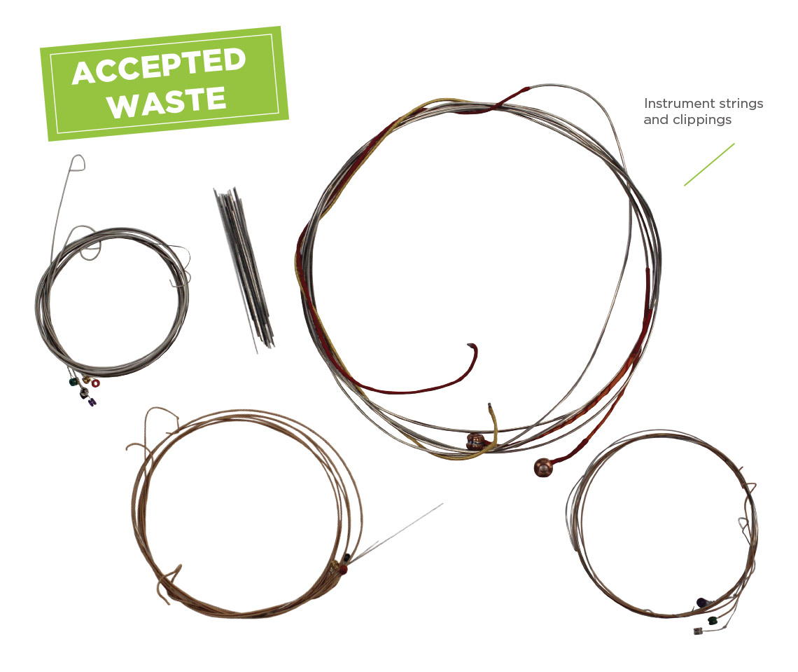 Terracycle Guitar String Diagram Notes Layout Of The Strings On Program Accepted Waste Instrument And Clippings From Any Brand