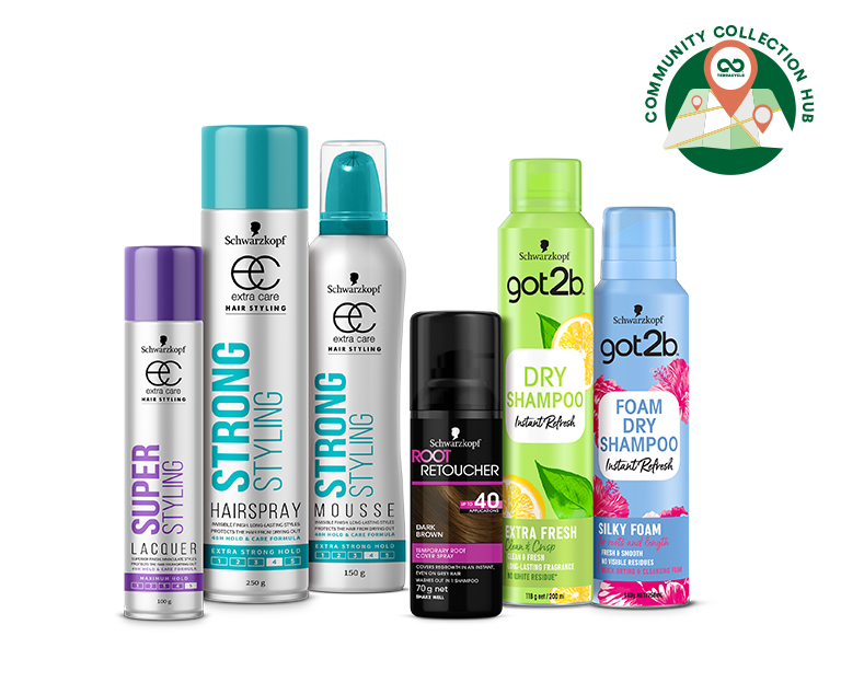 Thumbnail for Schwarzkopf Cares Hair Aerosol Recycling Program - Community Collection Hubs