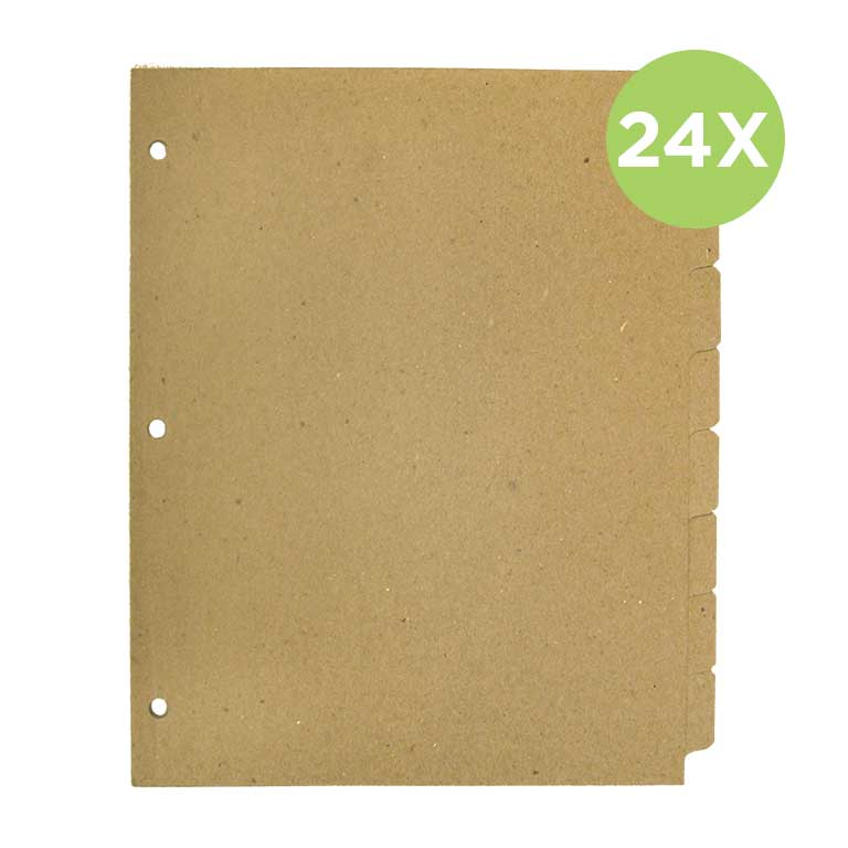 Tab dividers 8   24 bundle