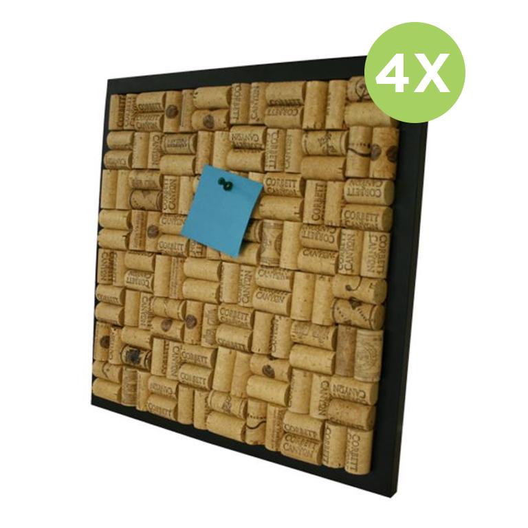 Wine corkboard   real corks x4