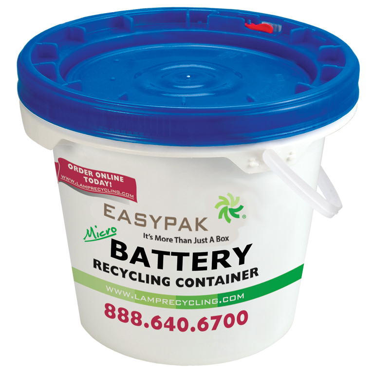 Thumbnail for EasyPak™ 1 Gallon Micro Battery Recycling Container