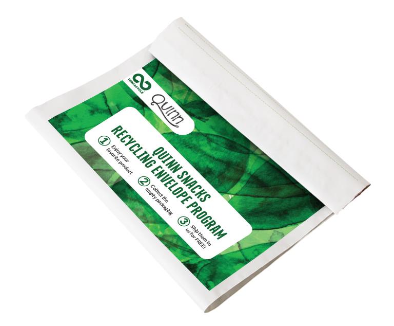 Thumbnail for Quinn Snacks Recycling Envelope Program