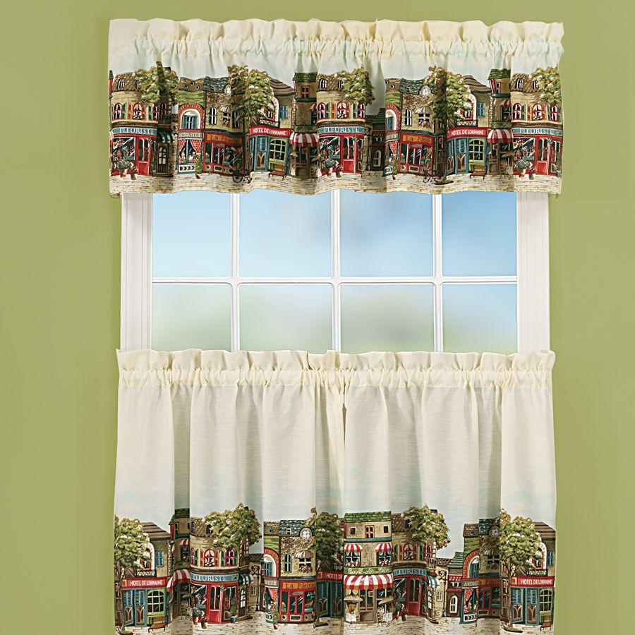 Sewing Kitchen Curtains: Knit Curtain Pattern