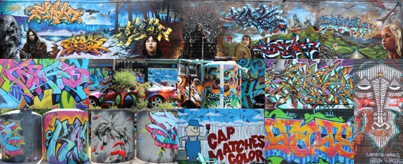 Collage of 2013 TerraCycle Graffiti