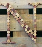 The Naked Grape DIY Cork Monogram