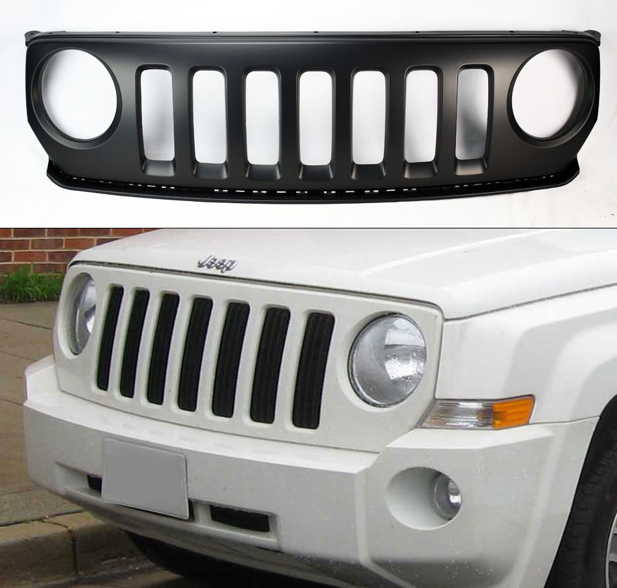 Replacement Front Bumper Hood Grill For Jeep Patriot 2011