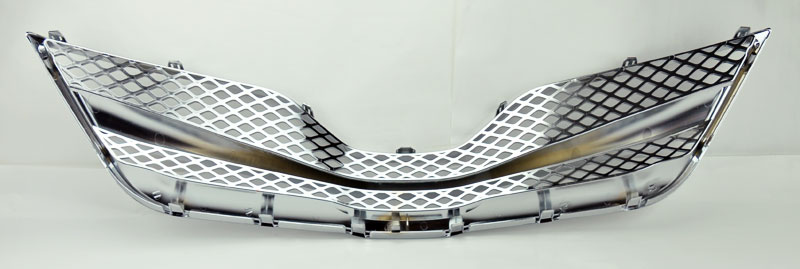 toyota camry 10 11 honeycomb mesh chrome front hood bumper grill ebay. Black Bedroom Furniture Sets. Home Design Ideas