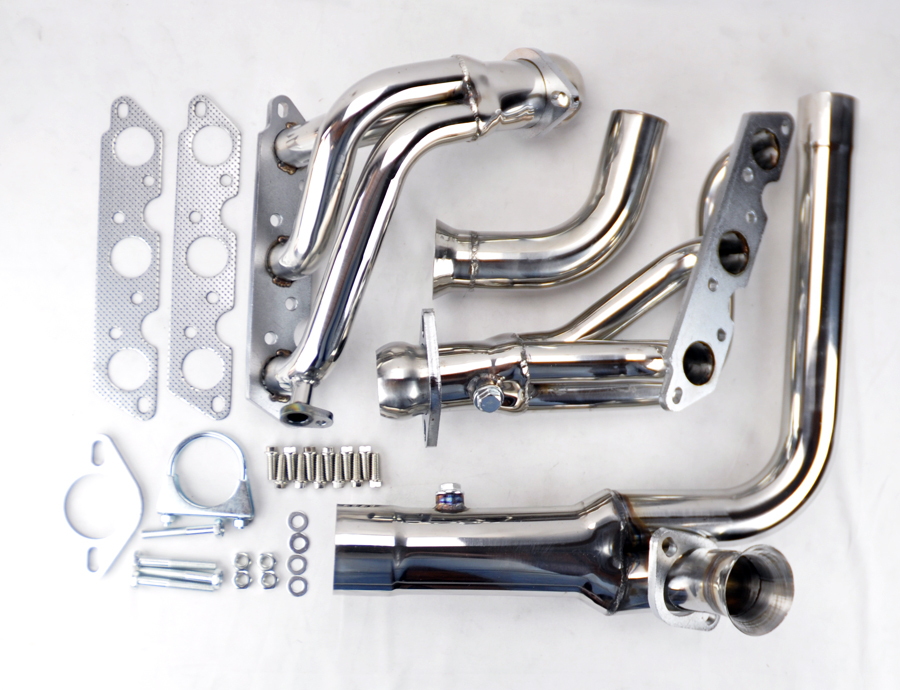 Details about Stainless Exhaust Manifold Headers w/ Downpipe Fits Chevy on 2001 chevy impala engine diagram, 3800 motor diagram, 2001 chevy monte carlo engine diagram, gm 3.6 engine diagram, 3800 series 3 engine diagram, oldsmobile 307 v8 engine diagram, 3.8 engine diagram, ford engine diagram, chevy hhr engine diagram, 1998 buick lesabre engine diagram, engine cooling system diagram, buick 3800 engine diagram, chevy 3.9 engine diagram, automatic transaxle diagram, pontiac 3800 coolant diagram, 2009 chevy traverse engine sensor diagram, 2004 buick lesabre belt diagram, exhaust system diagram, 5.9 cummins fuel line diagram,