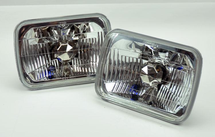 7x6 hid 8000k xenon h4 crystal clear headlight conversion. Black Bedroom Furniture Sets. Home Design Ideas