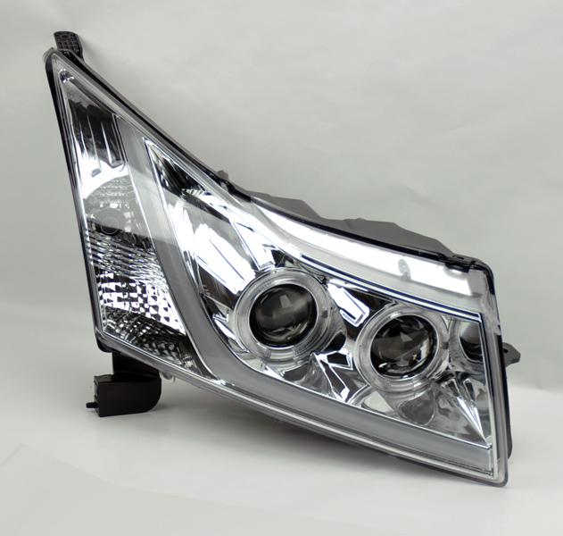 chevy cruze 11 13 projector led drl light bar halo. Black Bedroom Furniture Sets. Home Design Ideas