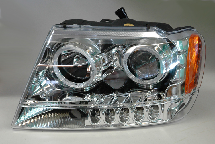 99 05 jeep grand cherokee projector halo headlights. Black Bedroom Furniture Sets. Home Design Ideas
