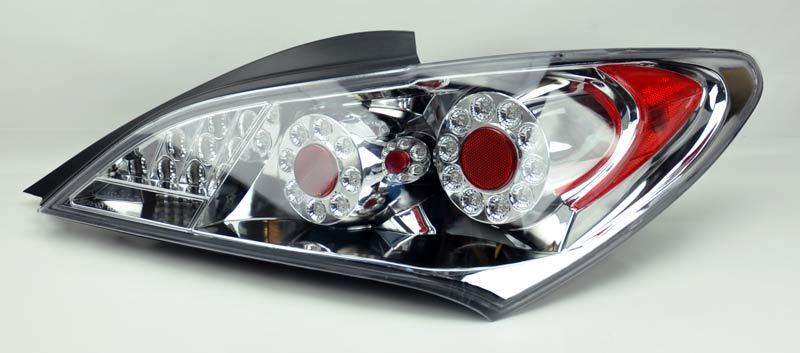 clear led tail lights fits hyundai genesis coupe 2010 2013 rh lh pair. Black Bedroom Furniture Sets. Home Design Ideas