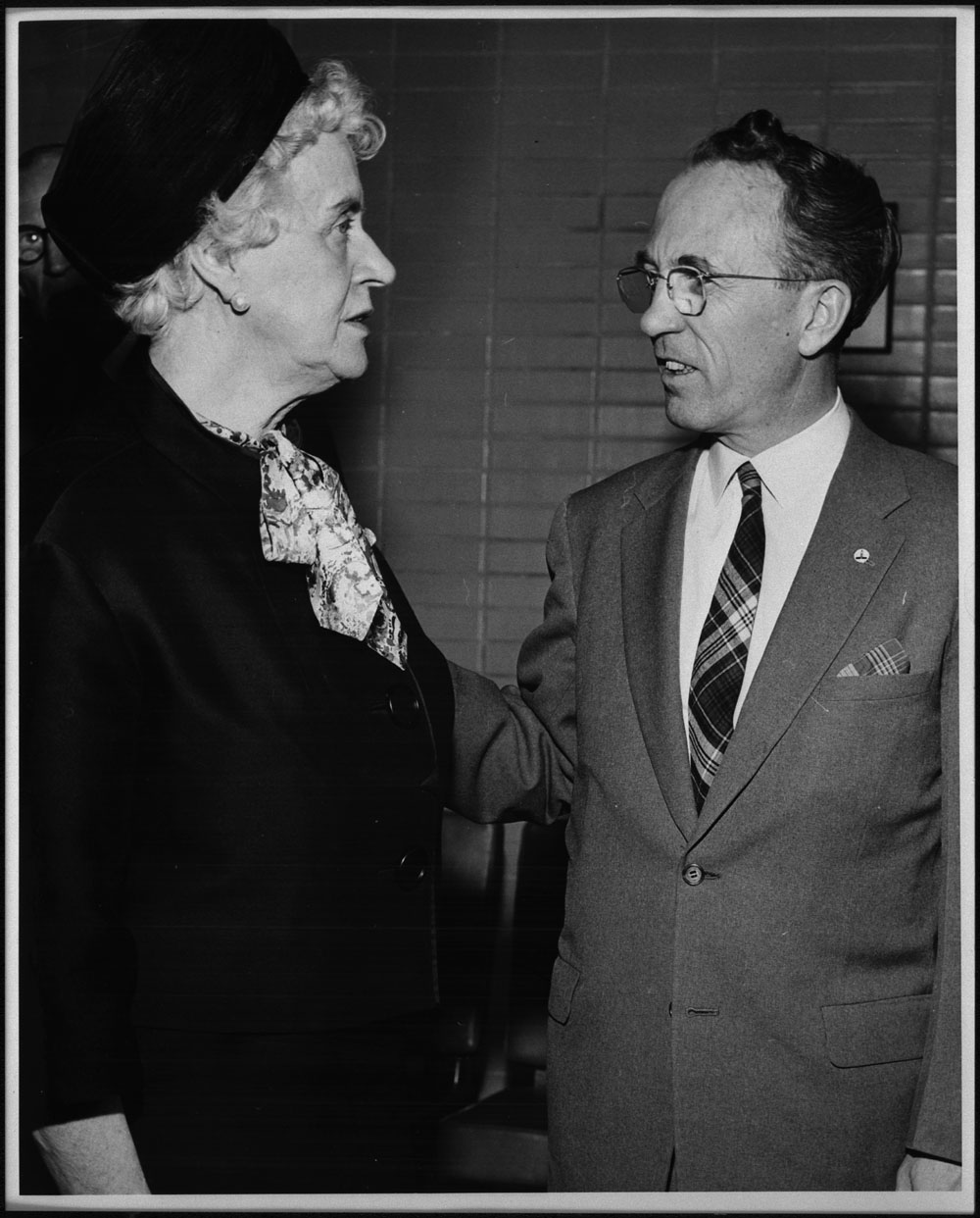 tommy douglas the canadian encyclopedia therese casgrain and tommy douglas 1955