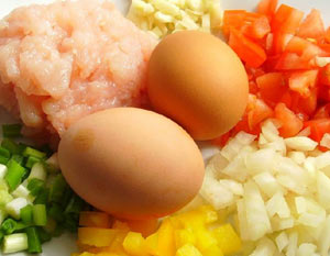 Stuffed-Omelette-Ingredients