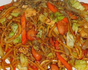Yakisoba noodles recipe video this is a great khwanjai unique yakisoba noodles recipe influenced by her time working in japan she created this recipe using thai cooking style applied forumfinder Gallery