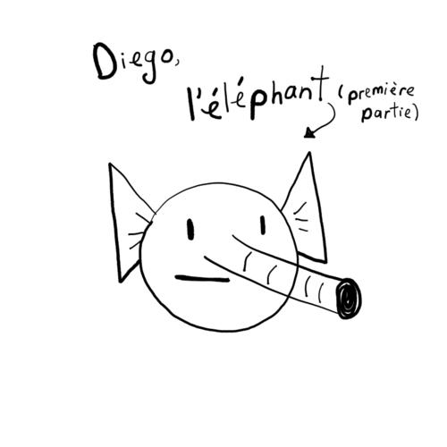Diego, l'éléphant (tête)