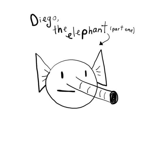 Diego the Elephant - Face