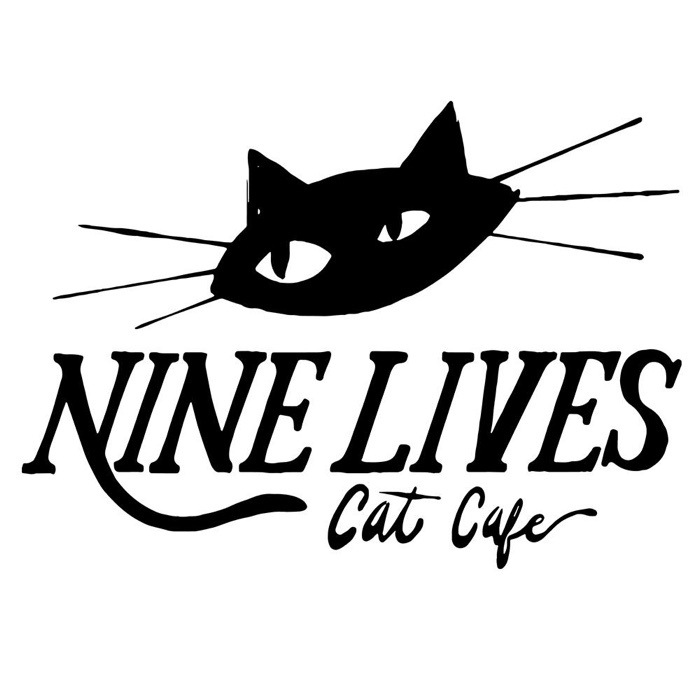 Nine lives cat cafe logo