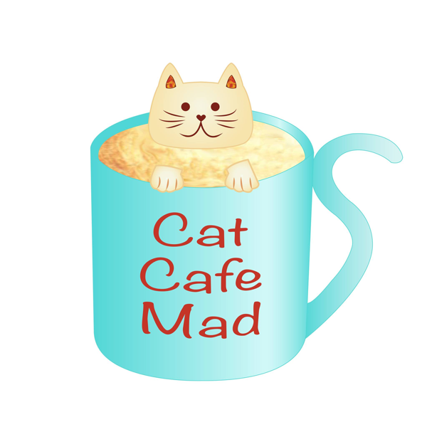Cat cafe mad logo