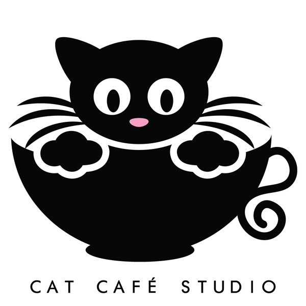 Cat cafe studio logo