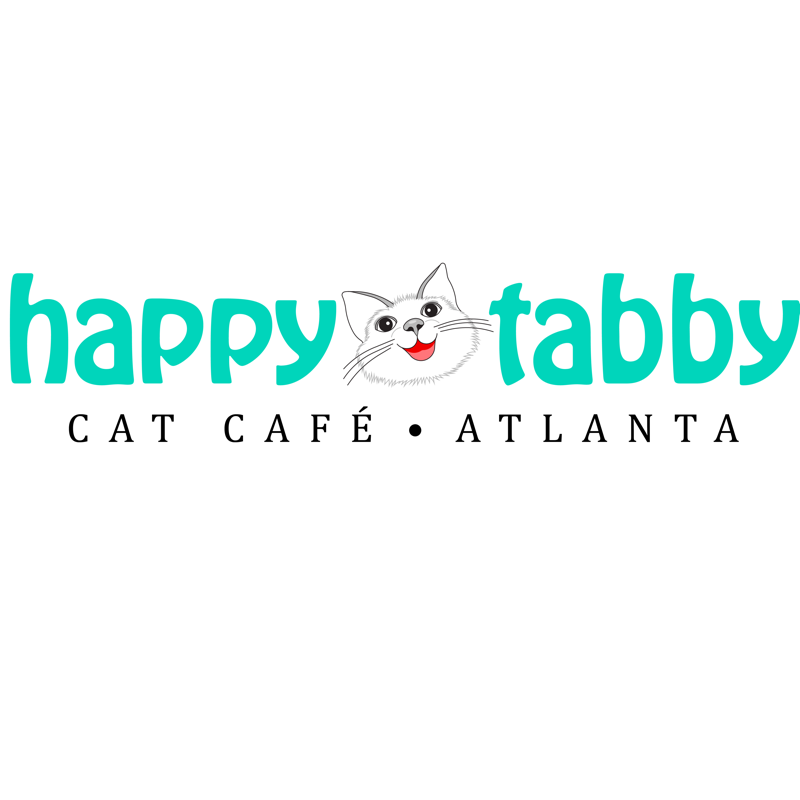 Happy tabby cat cafe atlanta logo