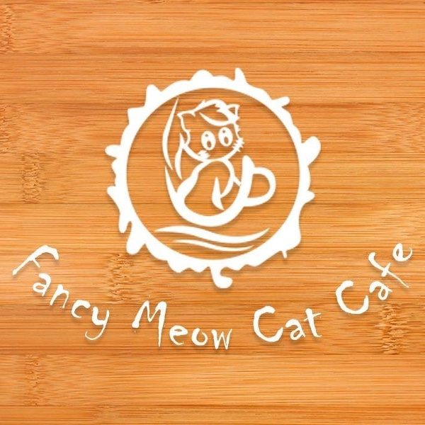 Fancy meow cat cafe logo