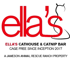 Ellas cathouse and cat nip bar logo
