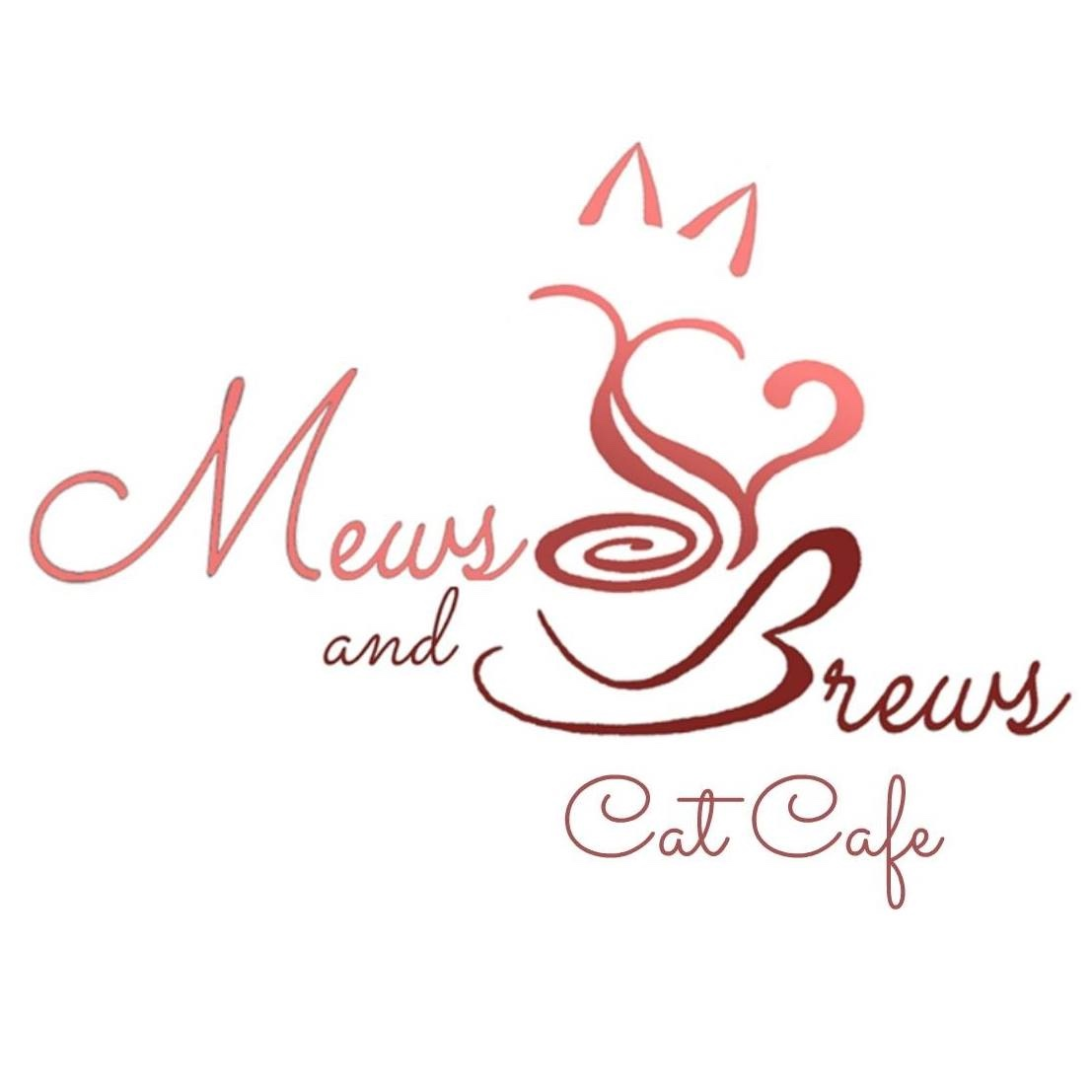 Mews and brews cat cafe logo