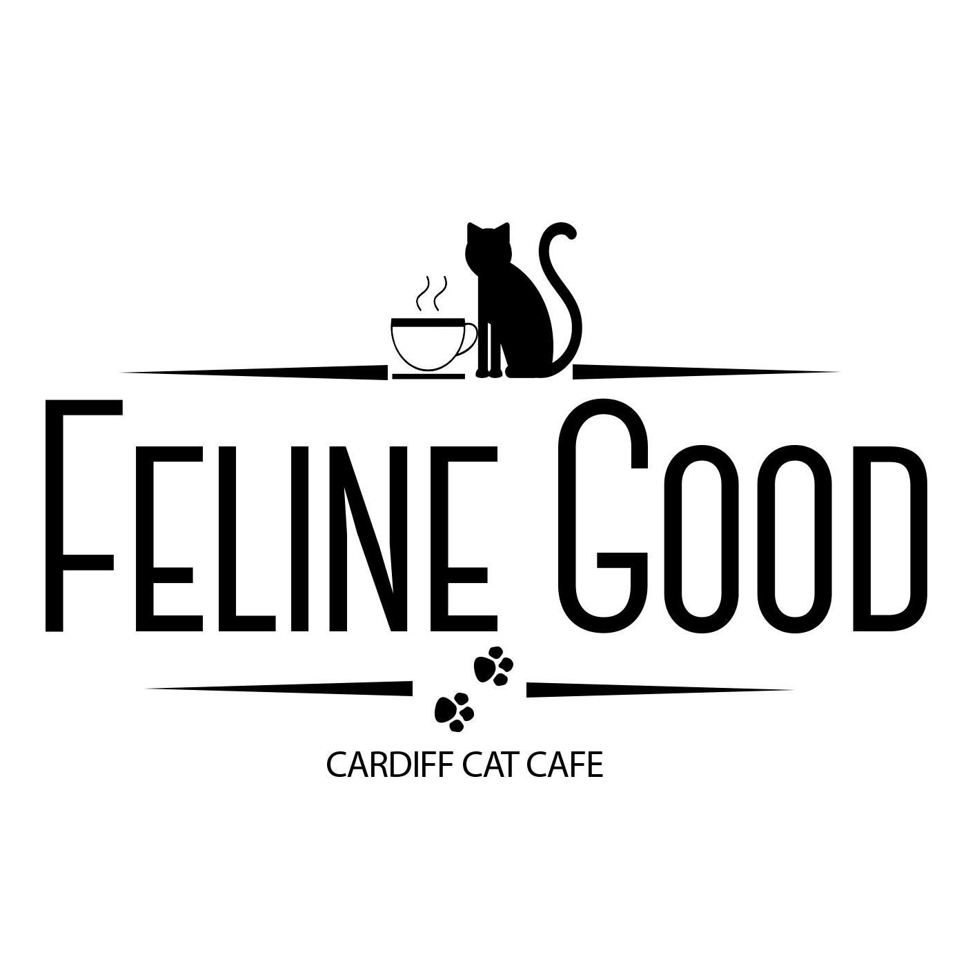 Feline good cat cafe logo
