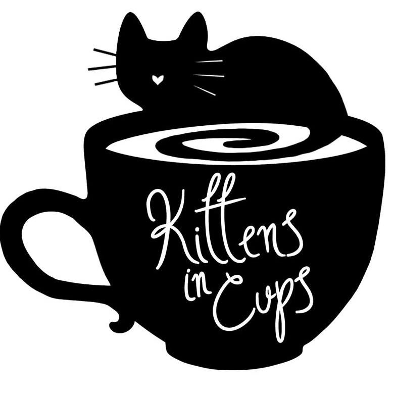 Kittens in cups logo