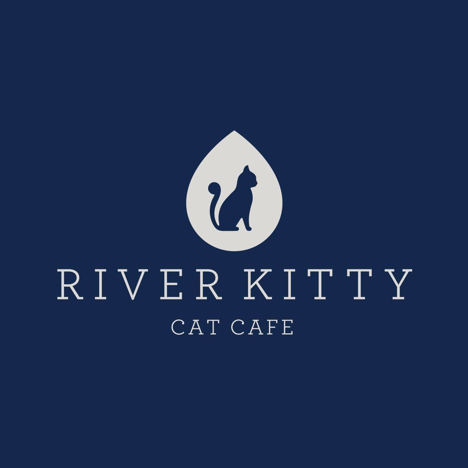 River kitty cat cafe logo