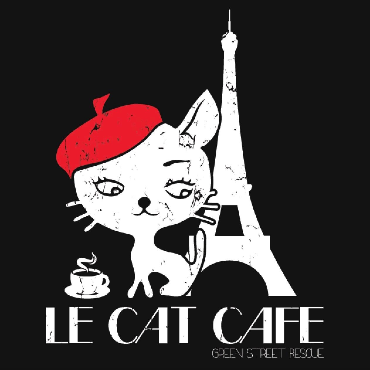 Le cat cafe logo