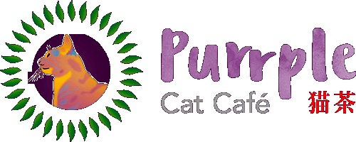 Purrple cat cafe logo