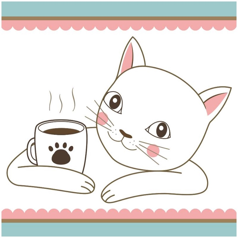 Catpawchino cat cafe logo