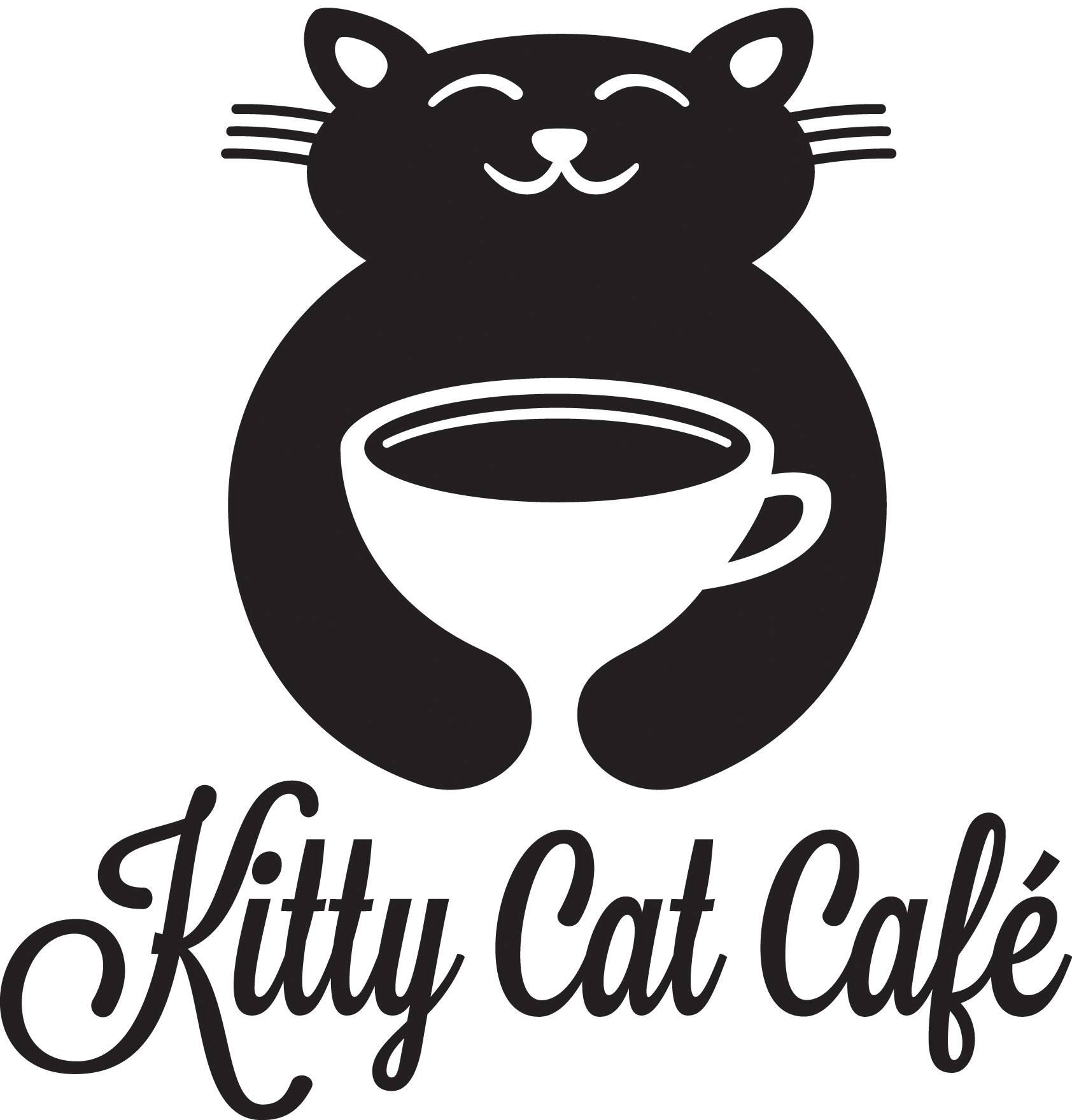 Kitty cat cafe logo