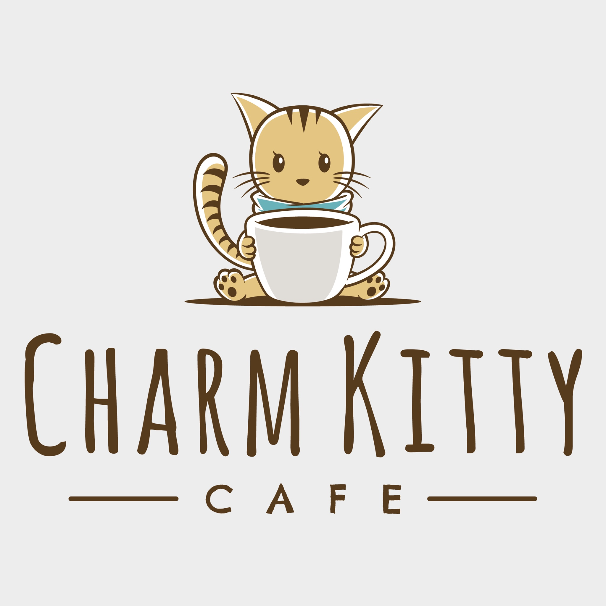 Charm kitty cafe logo