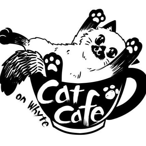 Cat cafe edmonton logo