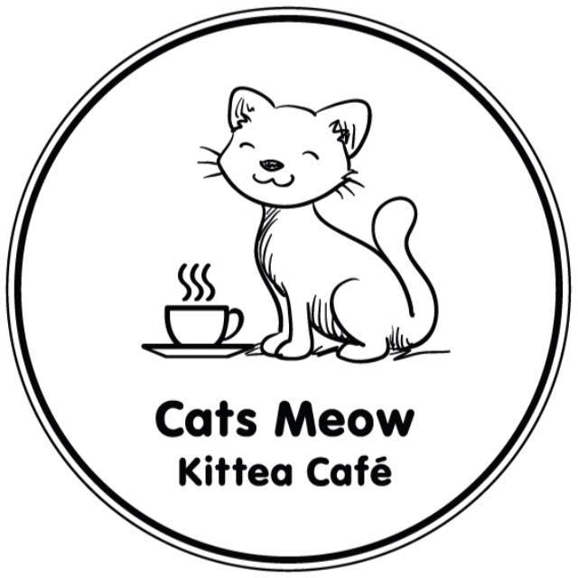 Cats meow kittea cafe logo